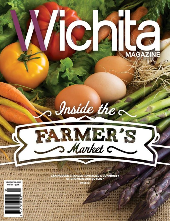 Fresh produce on the cover of Wichita Magazine's Farmer's Market issue
