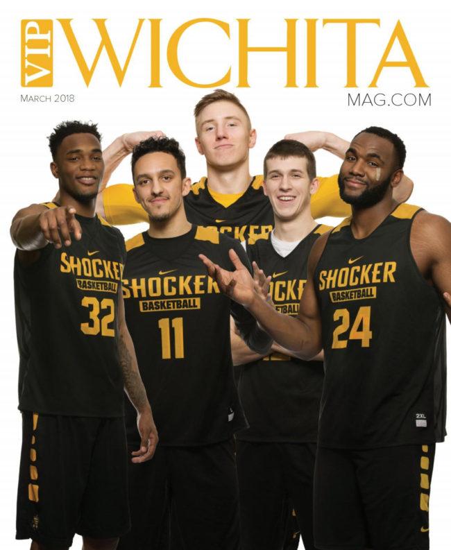 Wichita State Shocker Basketball players before March Madness