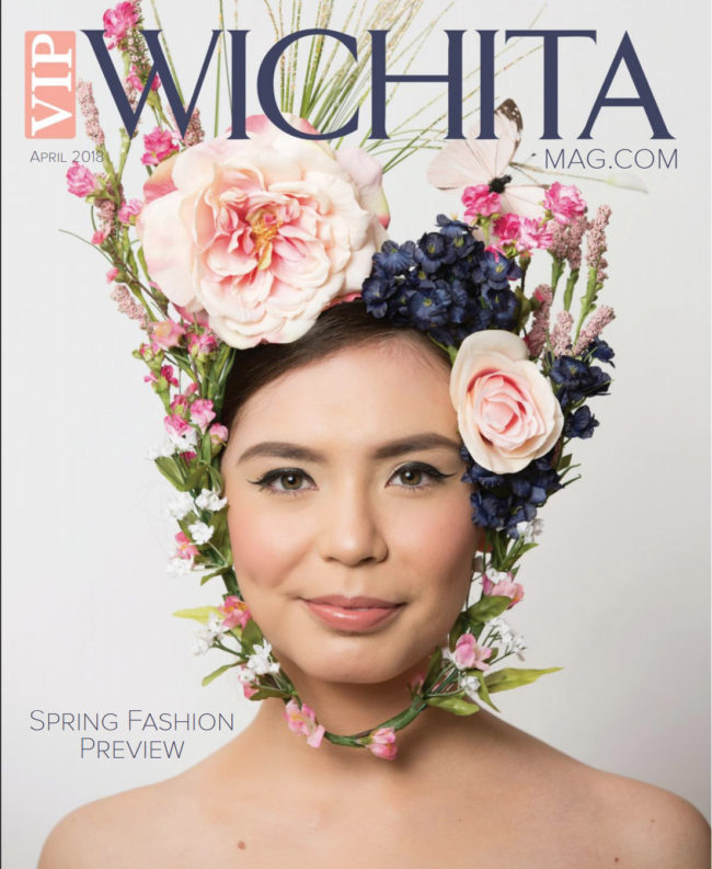 Cyleyss Stumblingbear on the cover of VIP Wichita's Spring Fashion Preview