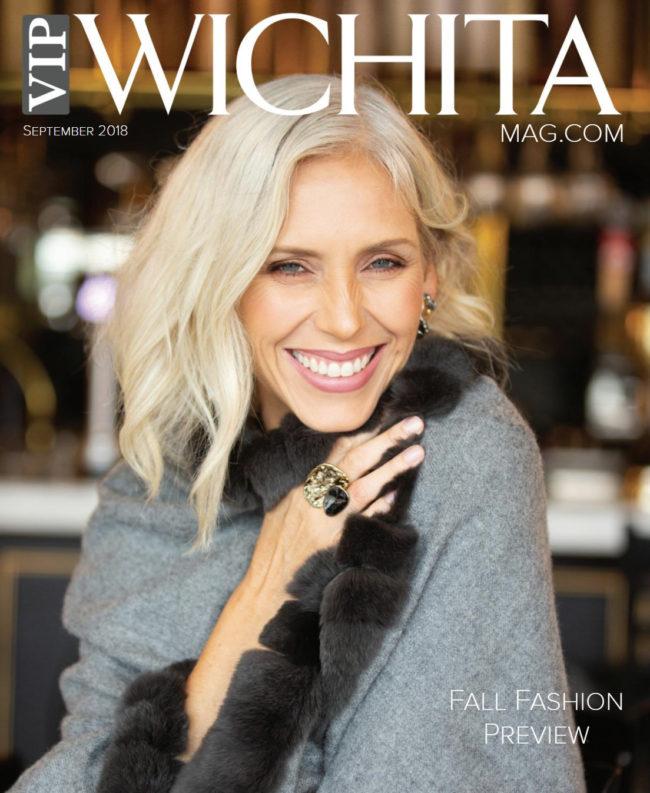 Christa Rude Vazeos magazine cover for the fall fashion preview