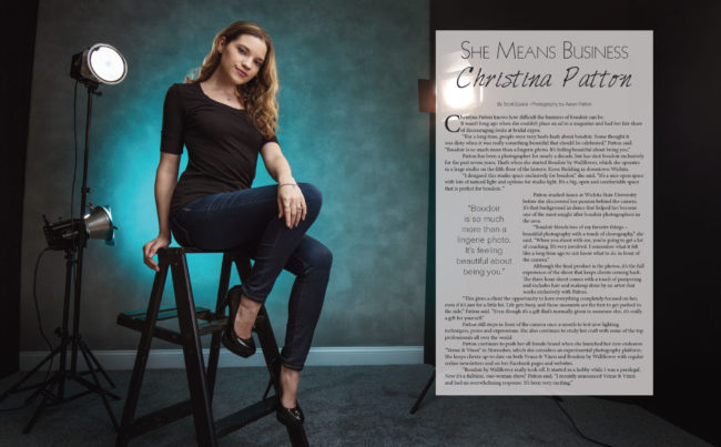 Boudoir photographer Christina Patton in VIP Wichita Magazine