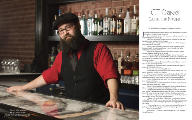 Vorshay's Cocktail Lounge head bartender, Daniel Lee Nevins