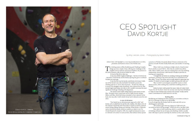CEO Spotlight | David Kortje of Bliss Climbing Complex