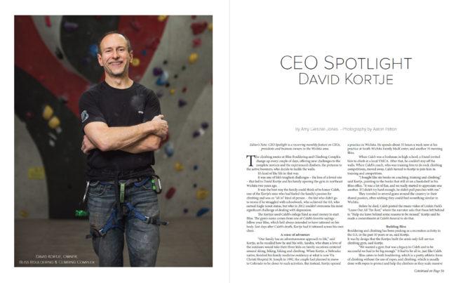 CEO Spotlight | David Kortje of Bliss Climbing Complex