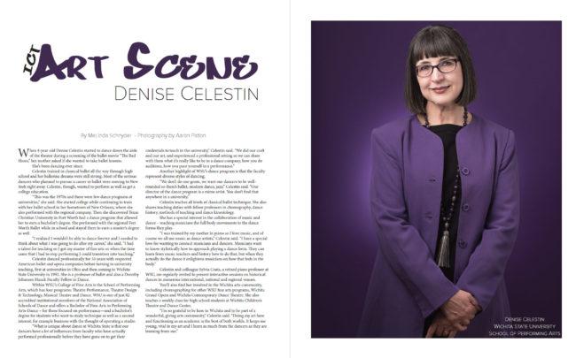 Wichita State ballet professor Denise Celestin in all purple