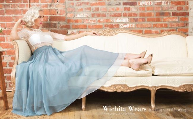 Christa Rude Vazeos in VIP Wichita spring fashion spread