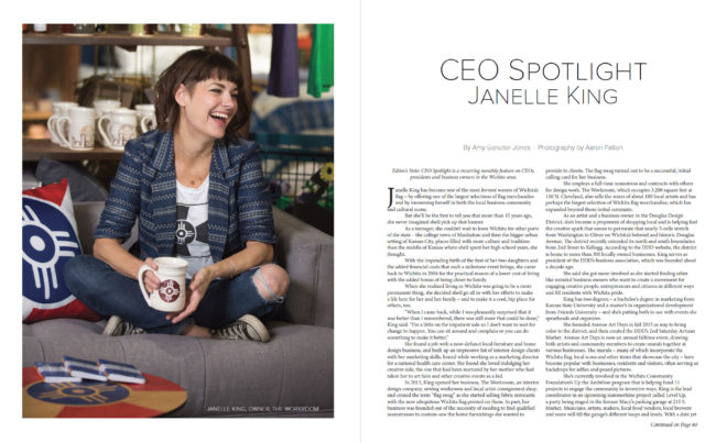 Wichita community leader Janelle King, owner of the Workroom