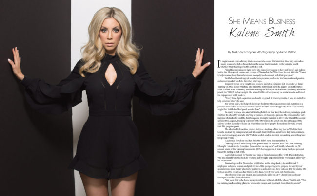 Kalene Smith of Tousled and The Hue for VIP Wichita Magazine