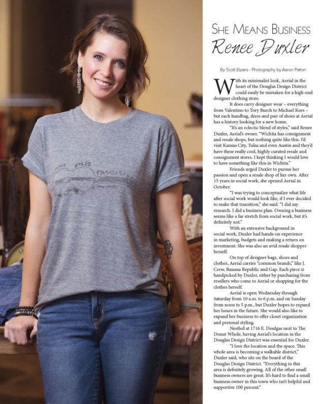 Renee Duxler in VIP Wichita, photographed by Aaron Patton