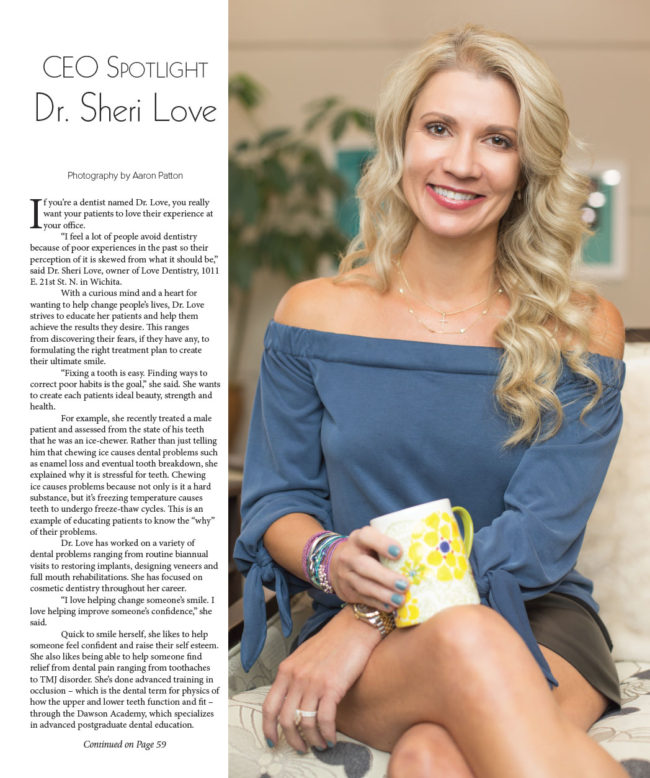 Dr. Sheri Boynton-Love of Love Dentistry for VIP Wichita
