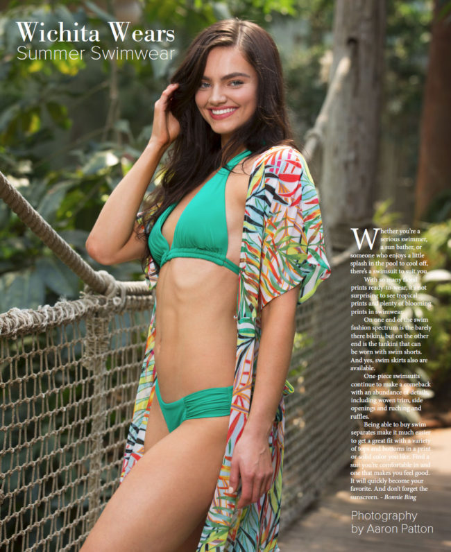 Whitney Miller of Models and Images in bikini for VIP Wichita swimwear issue