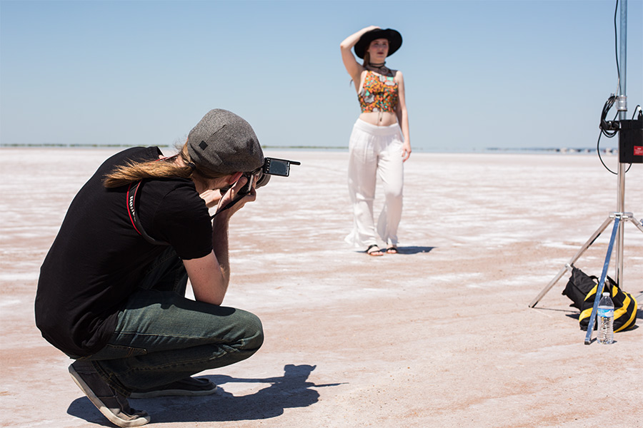 Behind-the-scenes with Aaron Patton on the salt plains