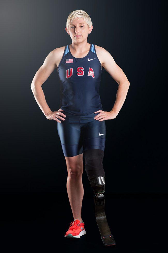 Liz Willis, USA Paralympic athlete in the studio